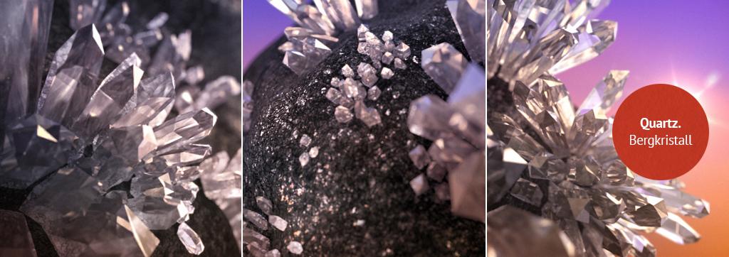Quartz. Bergkristall